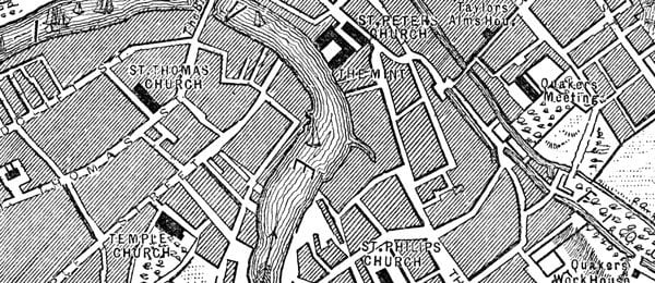 Chuches in Roques map of 1747 Bristol