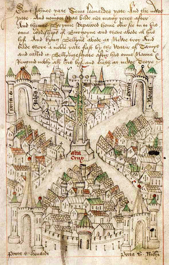 Robert Ricarts map of Bristol circa 1479