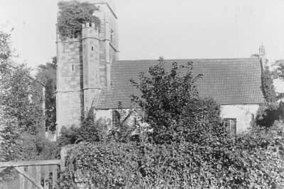 The old church at Alveston in about 1946